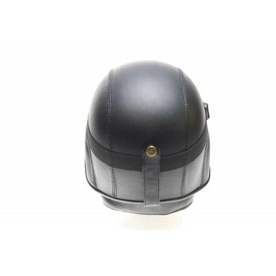 Zwart leren army chopper helm   outlet