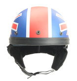 UK flag half helmet