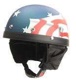 USA flag half helmet
