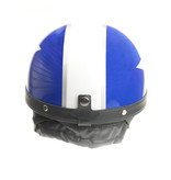 Classic blue - white half helmet