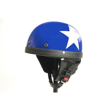 Classic blue half helmet white star