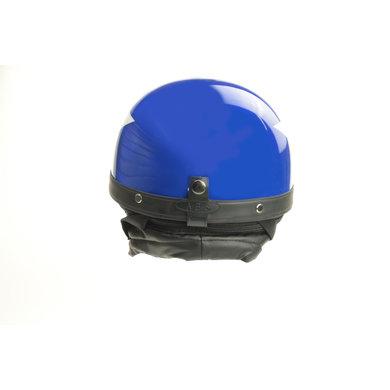 Blue half helmet light white star