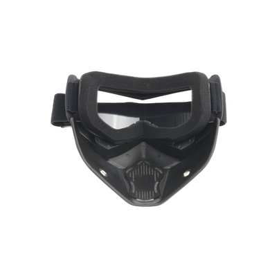 Black goggle mask - clear glass