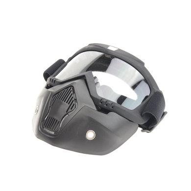 Black goggle mask - helder glas | helm masker