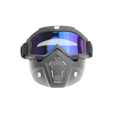 Black goggle mask - multi-colour lens