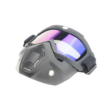 Black goggle mask - multi-kleur lens | helm masker