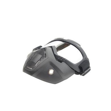 Black goggle mask - silver reflection lens