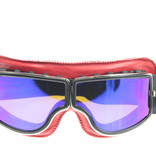 CRG red leather cruiser motor goggles