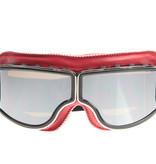 CRG rood leren cruiser motorbril