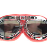 CRG red pilot goggles