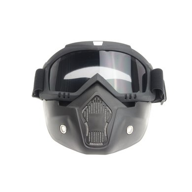 Black goggle mask - smoke lens