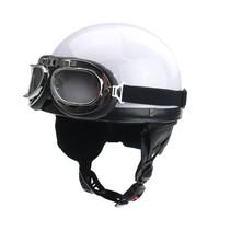 Classic half helmet white