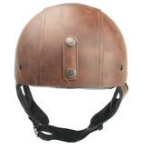 Brammo brown leather half helmet