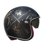 Premier vintage carbon nx gold chromed jet helmet