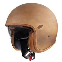 vintage brown old style jet helmet