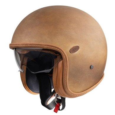 Premier vintage brown old style jet helmet