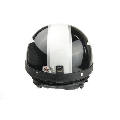 Classic black - white half helmet