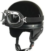 Classic half helmet black