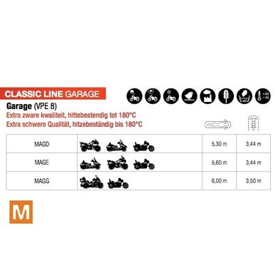 Spinelli classic line garage   motorhoes