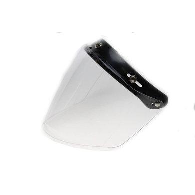 U flip up 3 button visor clear