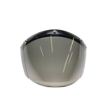 U flip up 3 button visor smoke
