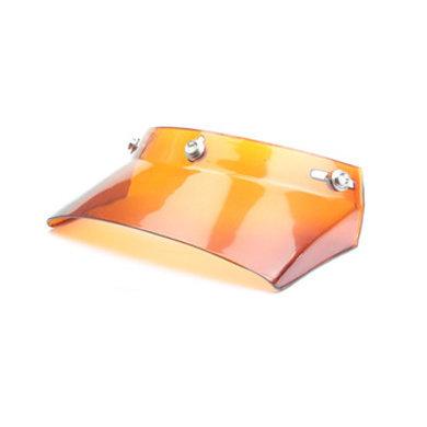 Square helm zonneklep oranje