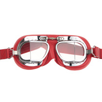 mark 49 red pilot goggles clear glass