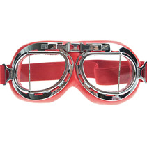 red pilot goggles