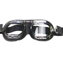 mark 10 deluxe, black motor goggles clear glass