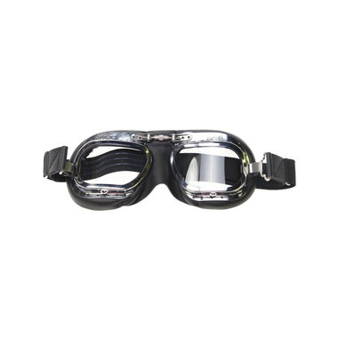 Halcyon mark 10 deluxe, black motor goggles clear glass
