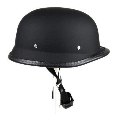 Duitse motorhelm mat zwart | outlet | maat L