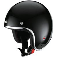 HX 89 jet helmet shinny black