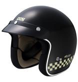 IXS HX 77 2.0 race jethelm mat zwart - wit