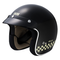 77 2.0 race jet helmet matt black - white