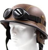 Bruin, leren duitse helm | outlet
