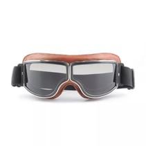 bruin leren cruiser motorbril