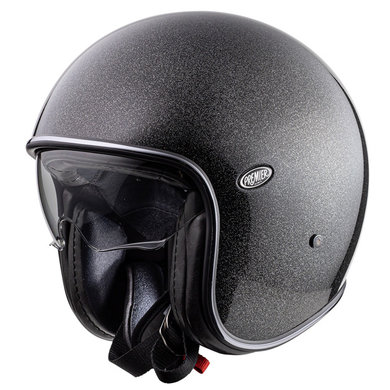 Premier vintage evo U9 jet helmet | silver glitter