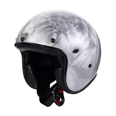 Premier le petit classic DR jet helmet   silver