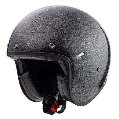 Premier le petit classic U9 jet helmet| black with silver glitters