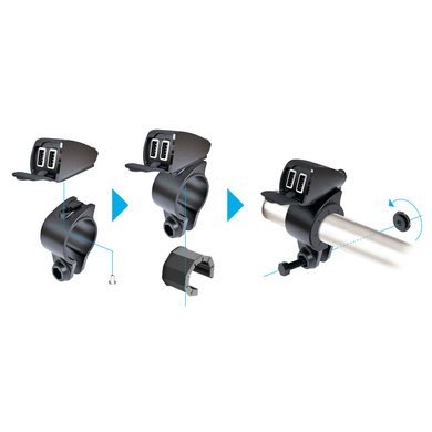 Lampa opti-line USB fix trek | USB oplader voor de motor