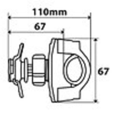 Lampa opti line opti-handle   mobiel houder
