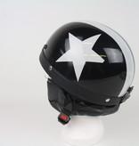 Zwarte pothelm witte ster | outlet