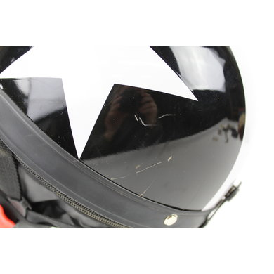 Black half helmet white star | outlet