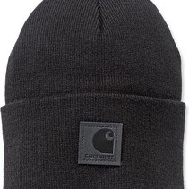 black label watch hat  | black | knitted beanie