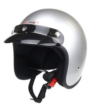 RB-710 retro open face helmet silver