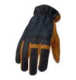 Torc hollywood motor gloves denim-leather