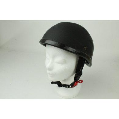 Flame half helmet matt black | outlet