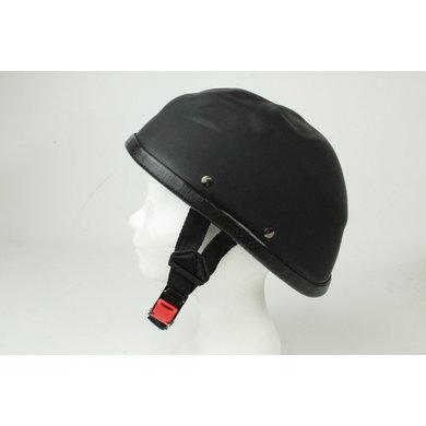 Skull cap motorhelm mat zwart | outlet