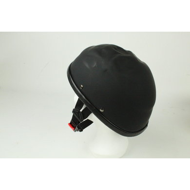 Skull cap half helmet matt black | outlet
