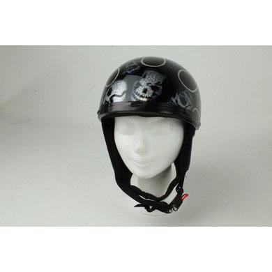 Skull glitter half helmet | outlet